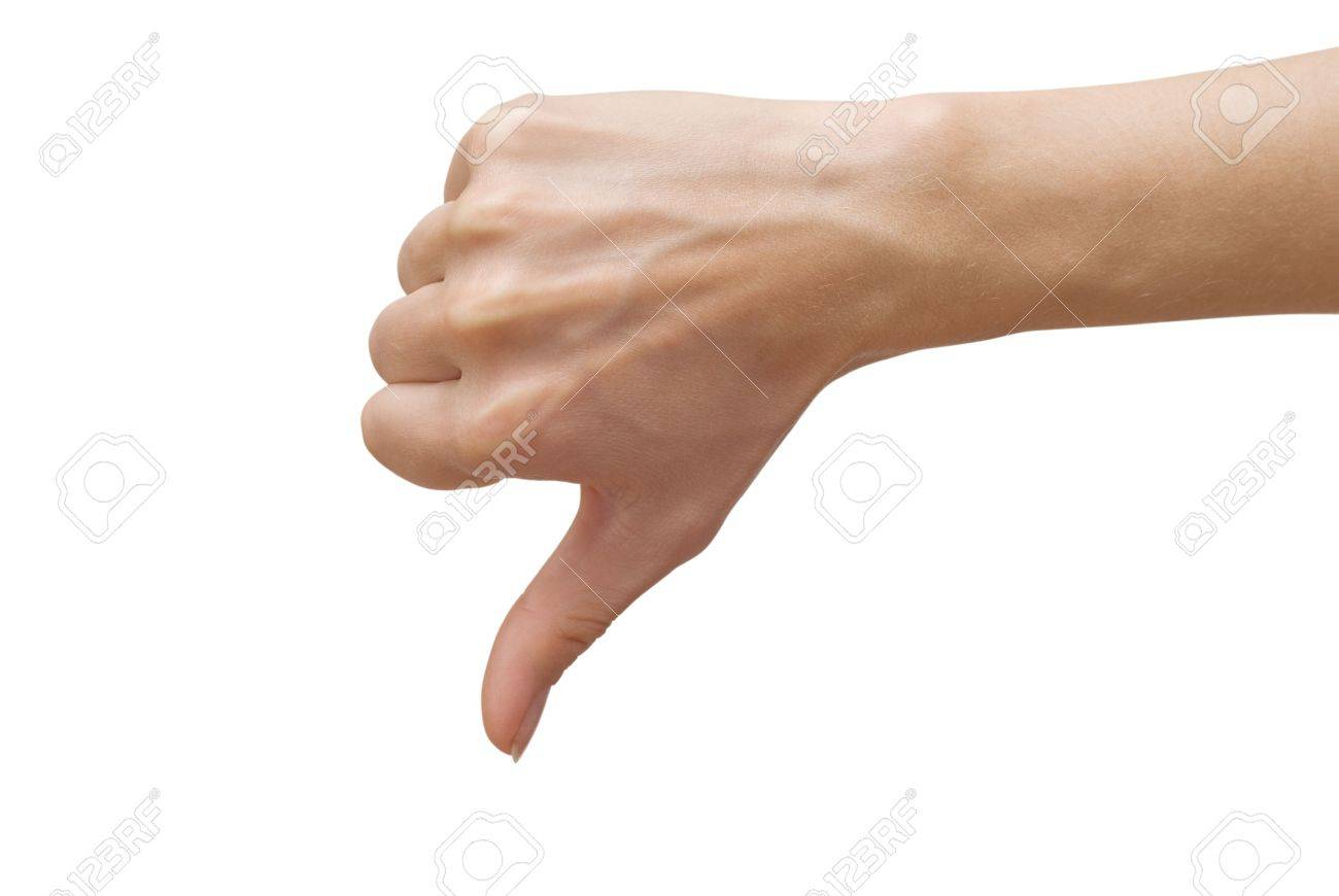 woman showing thumbs down - 5859278