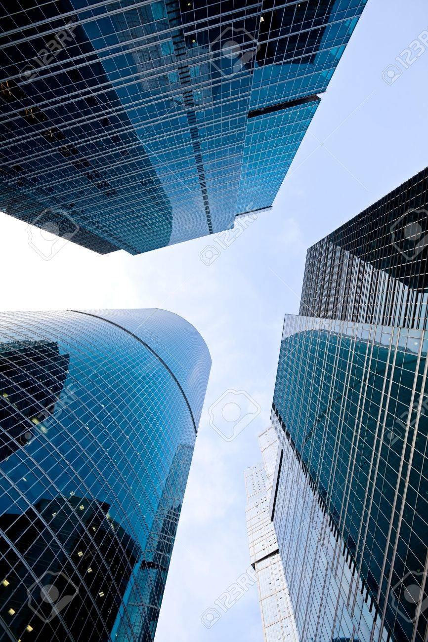 Contemporary skyscrapers in business centre - 7626942