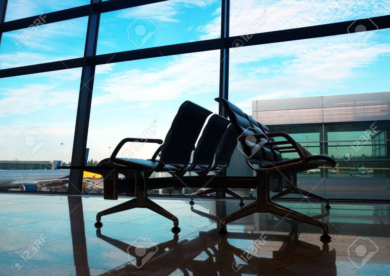 airport interior at morning - 7687966