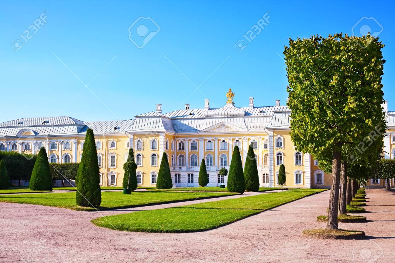 Palace in Peterhof. St. Petersburg. Russia - 8350505