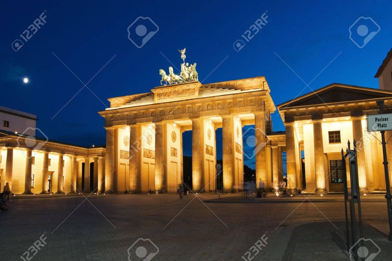 Brandenburg Gate in Berlin at night. Germany. - 8817368