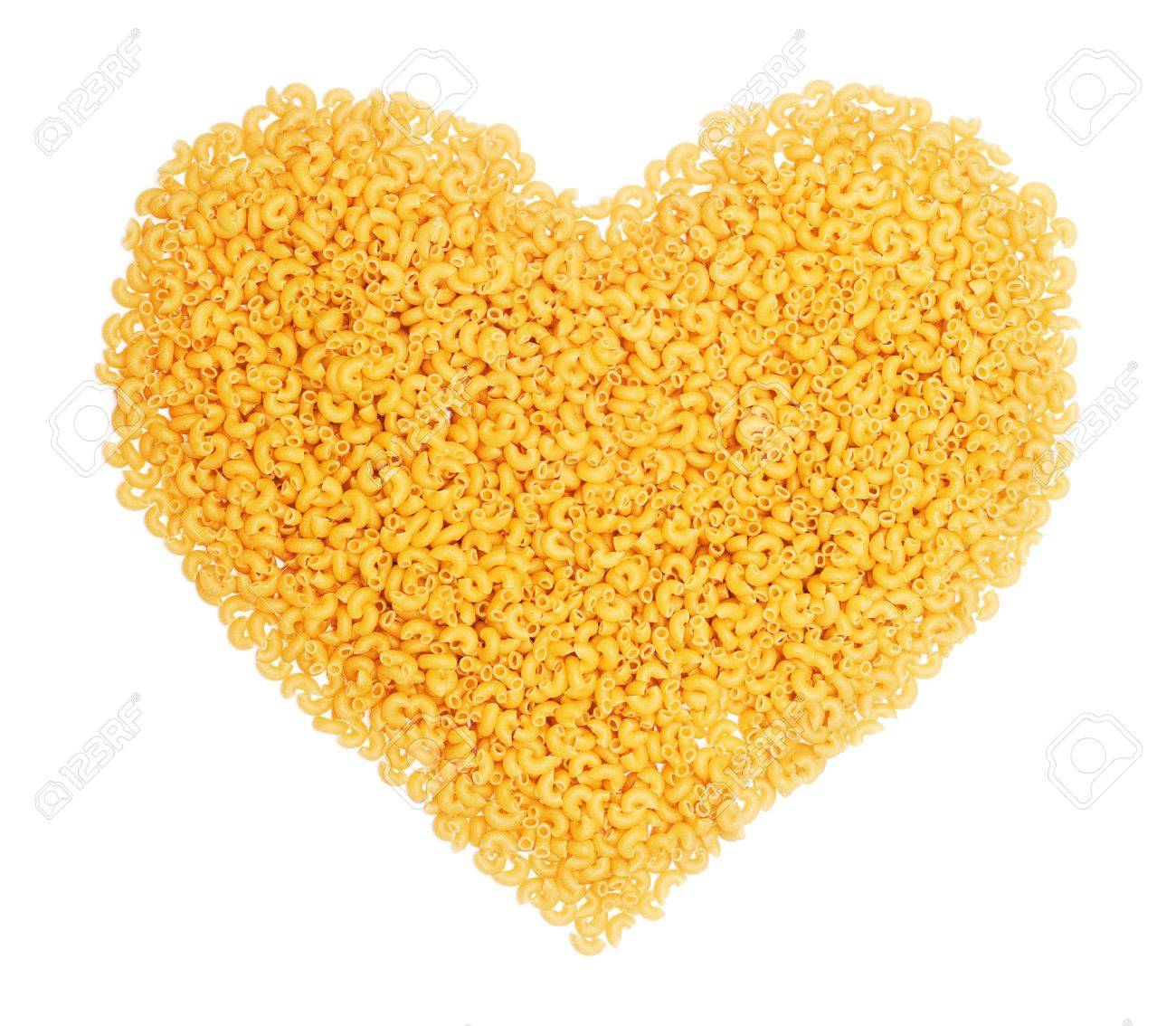 heart shape from pasta on the white background - 8817365