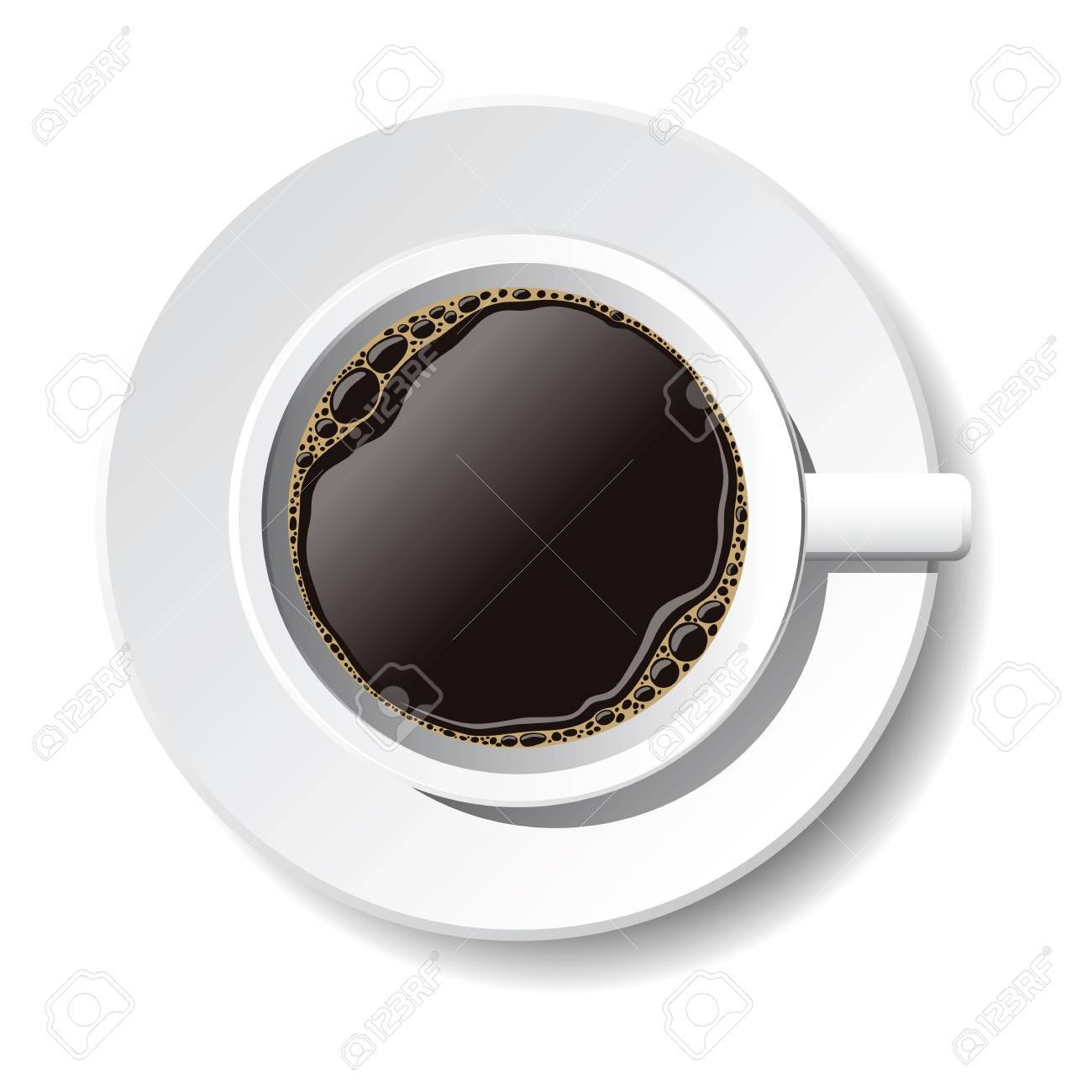 cup of coffee on the white background Stock Vector - 8817361