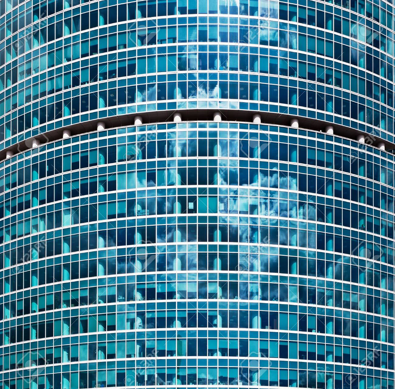glass wall of the office building - 9280444