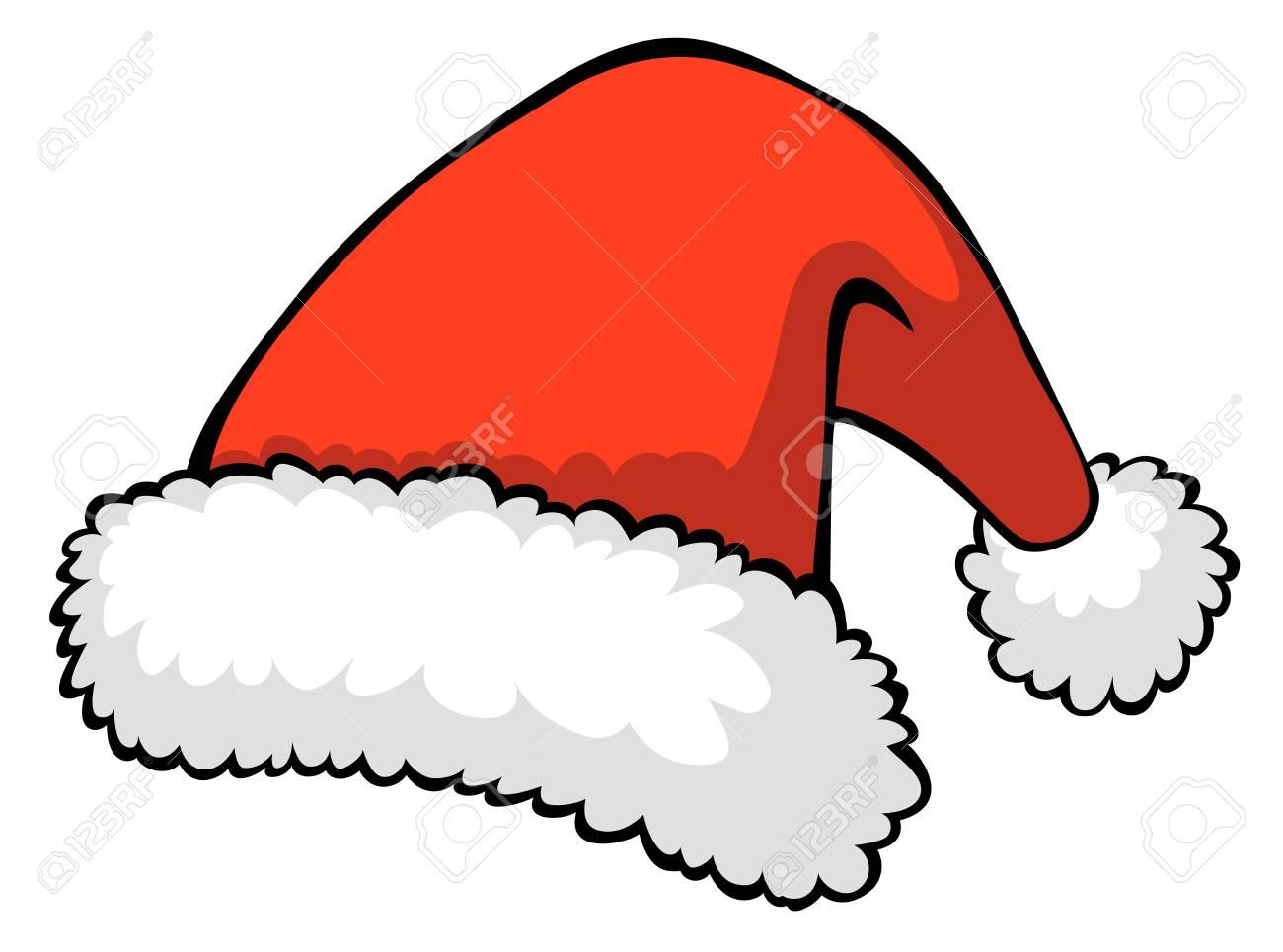 illustration of red Santa - 11041392