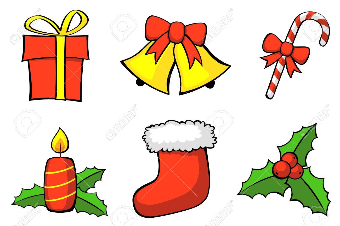 Set of Christmas symbols. Vector - 11230963
