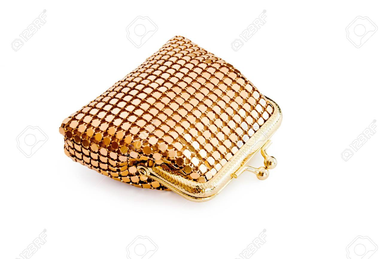 Isolated gold changing purse - 11832626