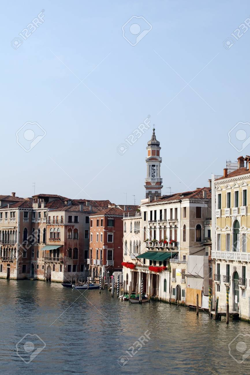 Venice Grand canal at sunset Stock Photo - 5087801