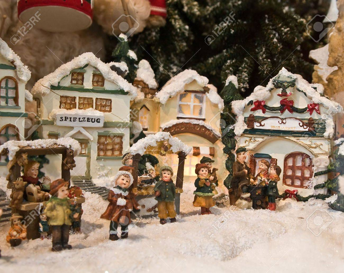 Christmas decorations (Small toy houses) Stock Photo - 5110020