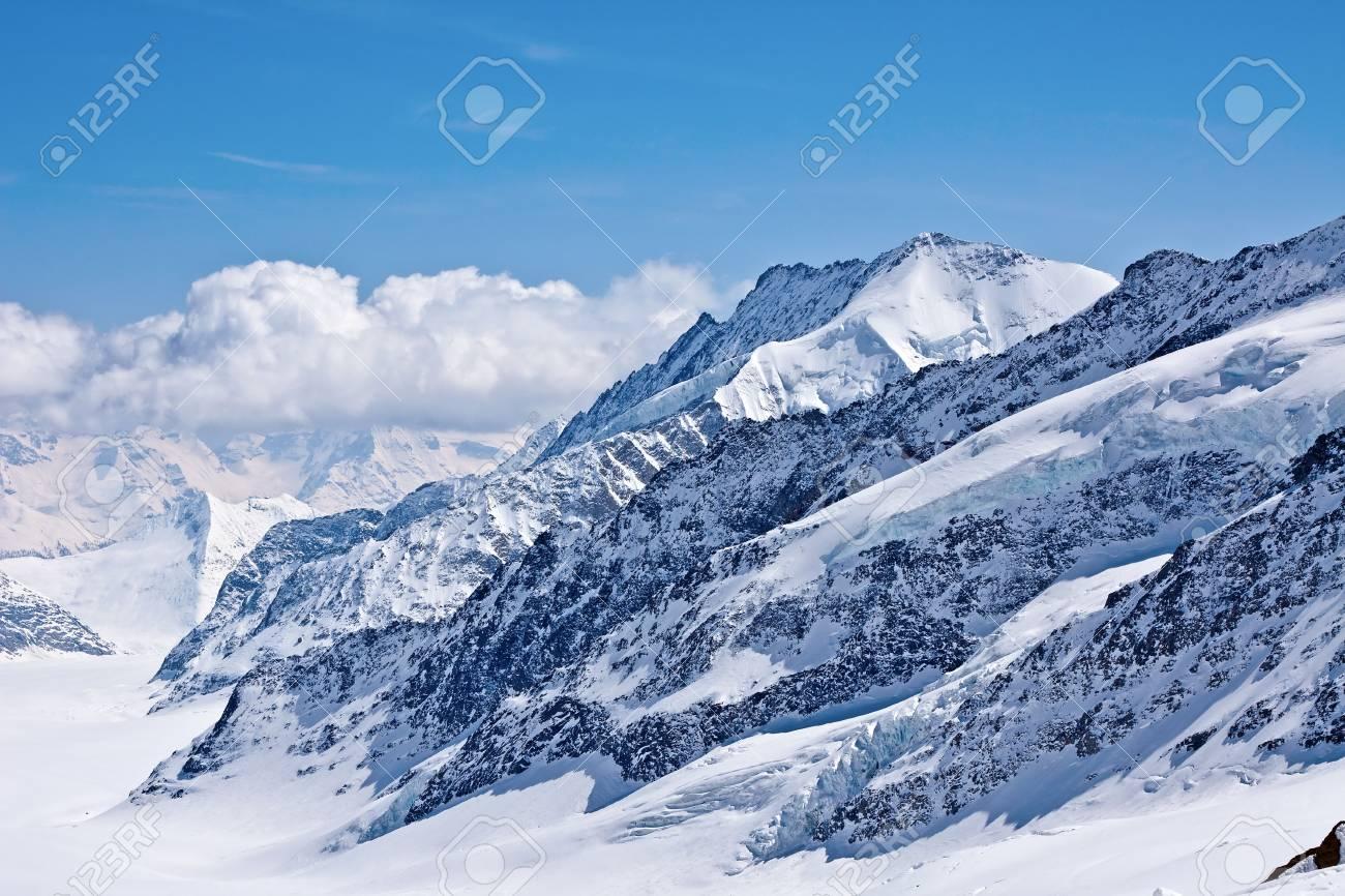 Winter landscape in the Jungfrau region Stock Photo - 6845783