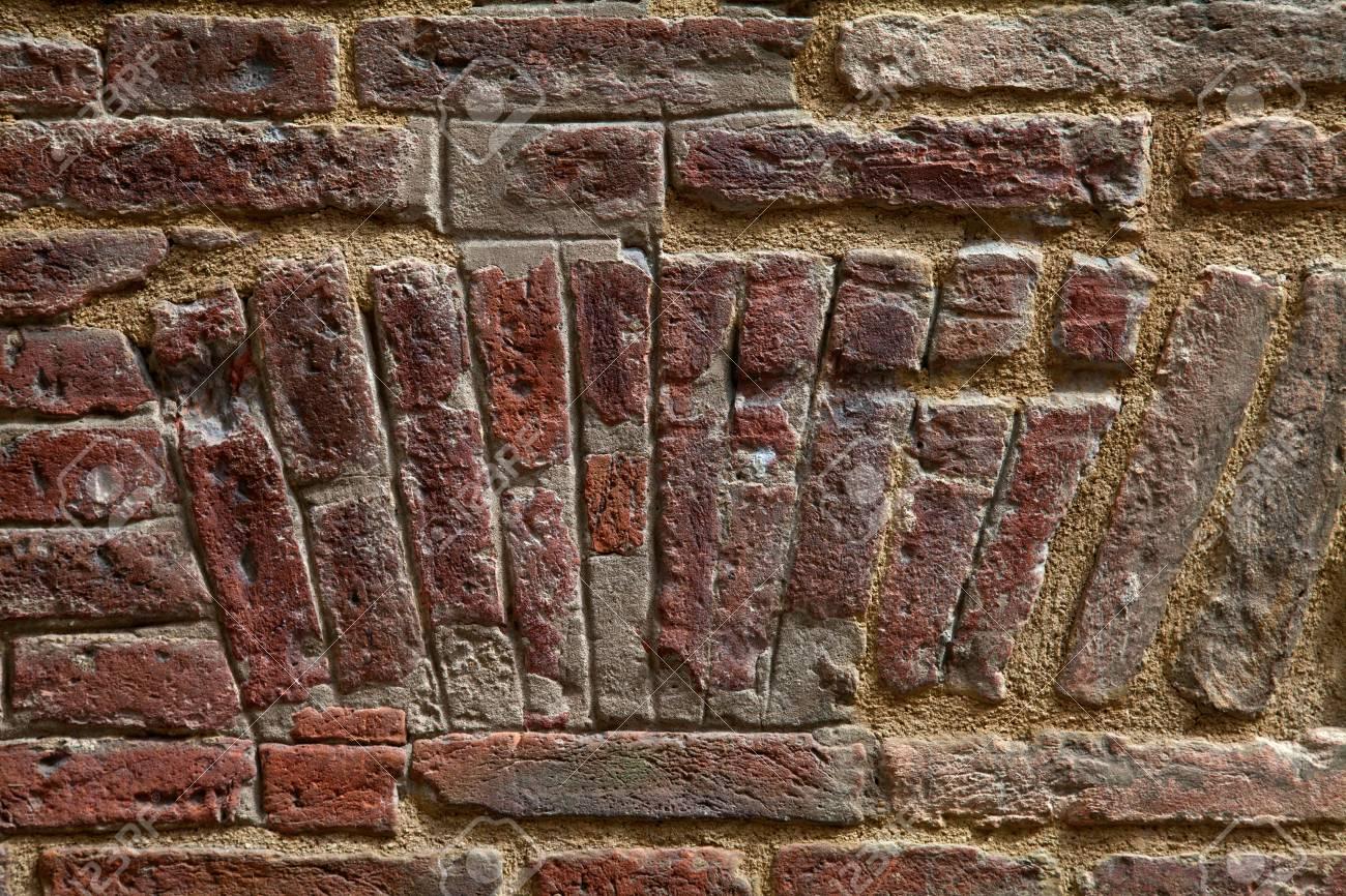 Immagini Stock Mattone Rosso Antico Muro Sfondo Image 7405072