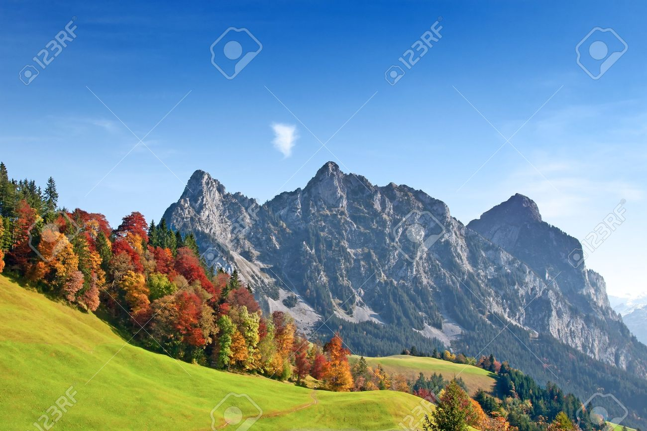 Autumn (indian summer) in swiss alps Stock Photo - 7646699