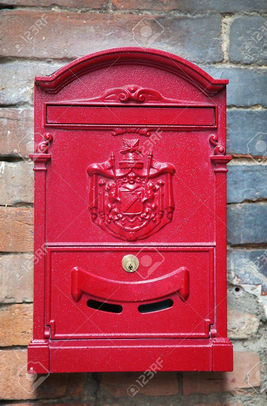 Beautiful Vintage Letter box, Siena, Italy Stock Photo, Picture
