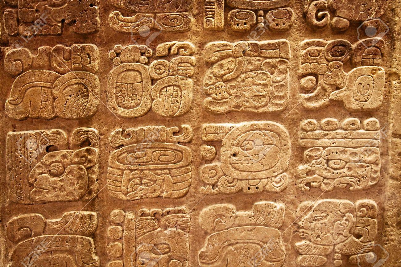 Hasil gambar untuk mayan hieroglyphics