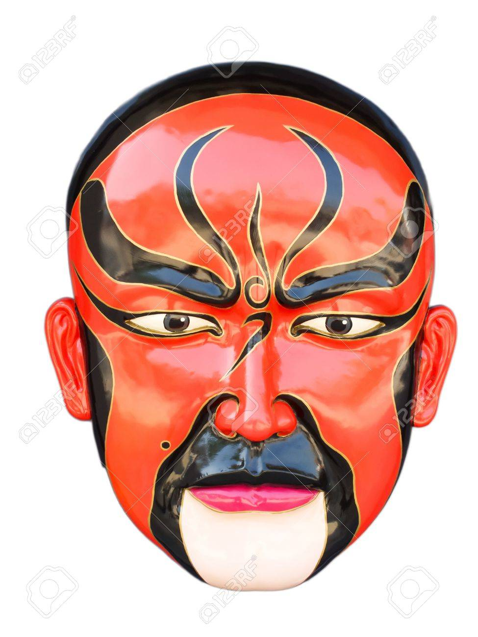 Traditional chinese opera red mask isolated on white Stock Photo - 8539179