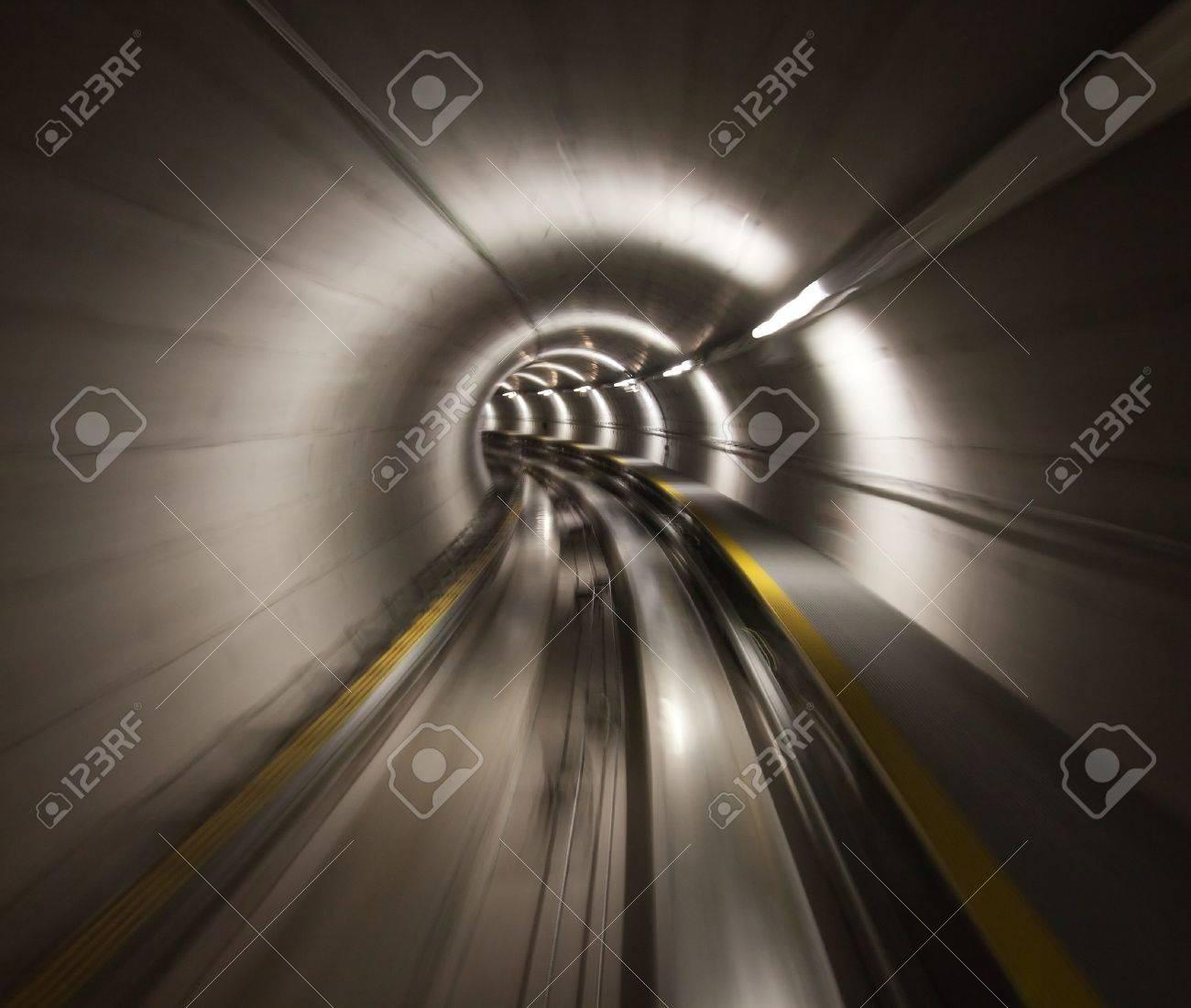 Going trough the underground tunnel (Zurich airport) Stock Photo - 9240989