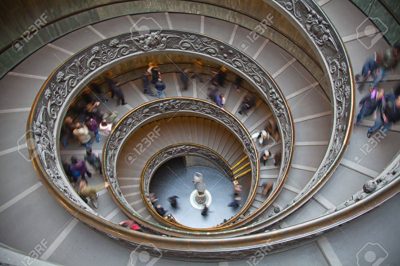 Italy. Rome. Vatican. A double spiral staircase. Stock Photo - 10249691