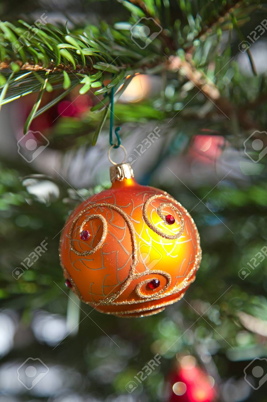 Fragment of the Christmas tree decoration Stock Photo - 11235641