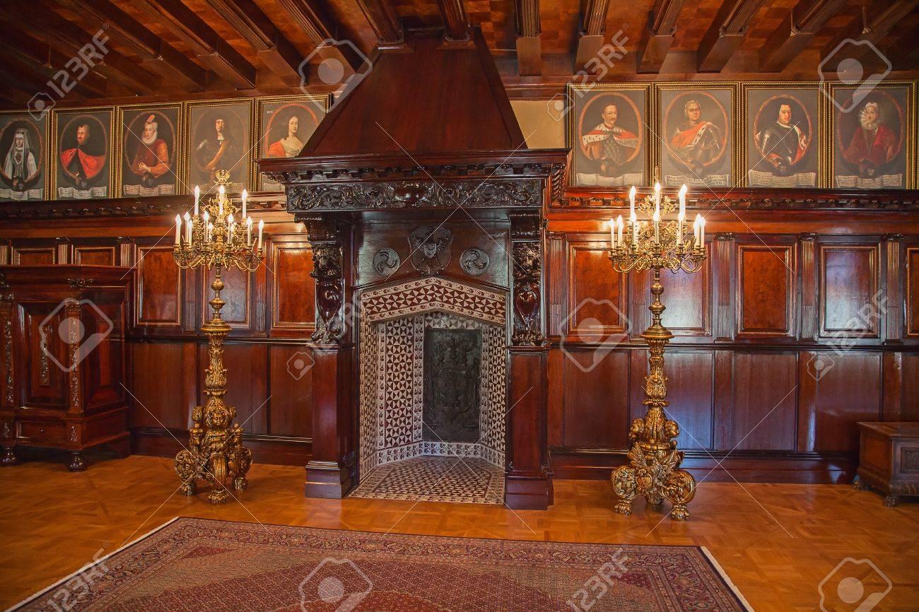 Interior of the medieval in Nesvizh near Minsk, Belarus Stock Photo - 15132829