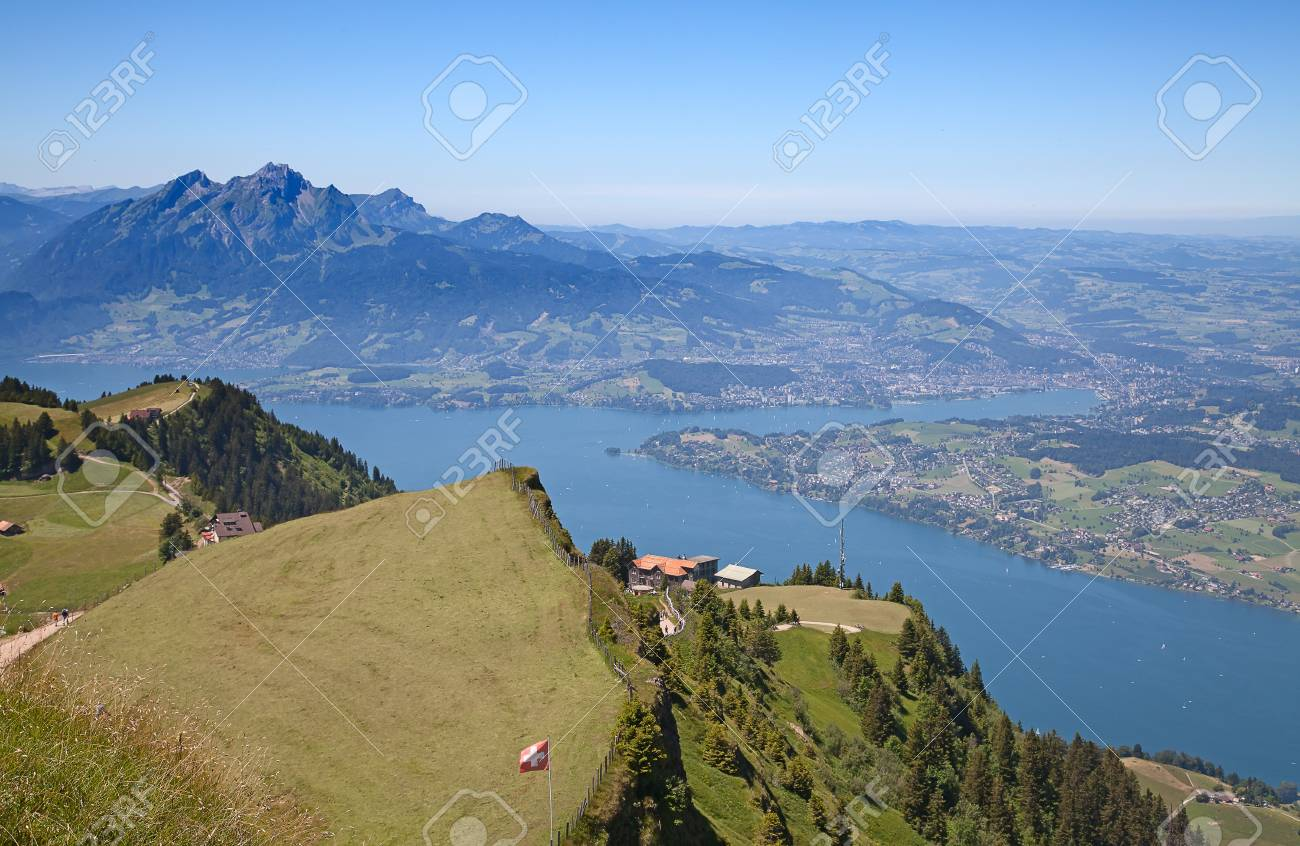 View from the top of the Rigi mountain Stock Photo - 16661282
