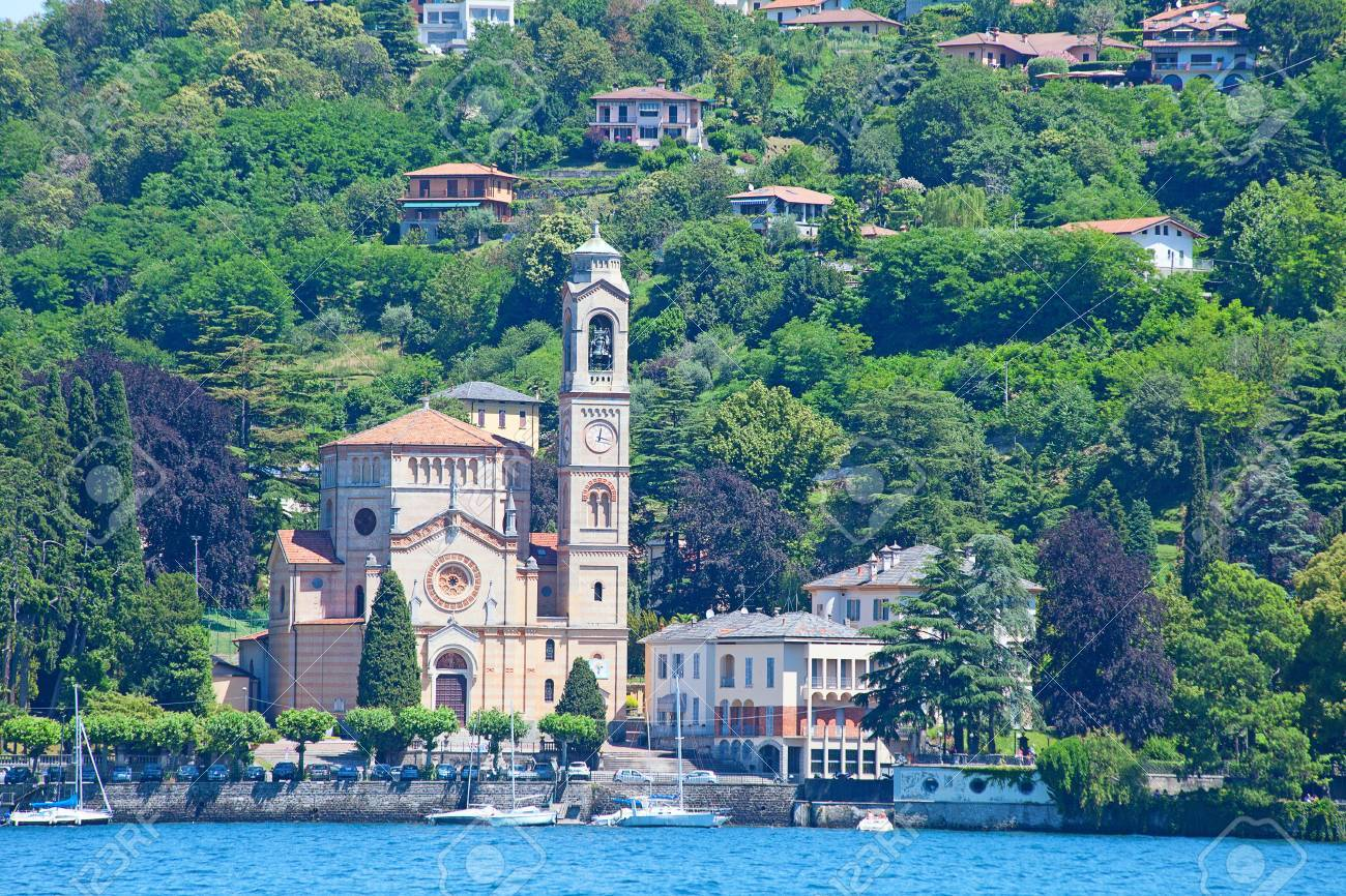 Landscapes around famous lake Como in northern Italy Stock Photo - 21574677