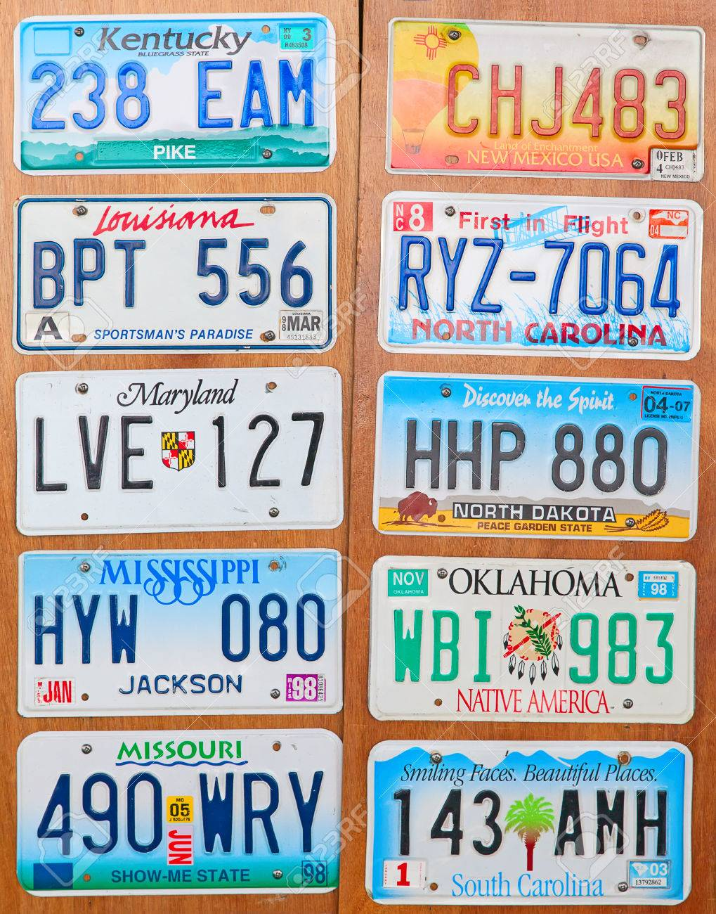 Collection Of The Old Number Plates Stock Photo, Picture And ...