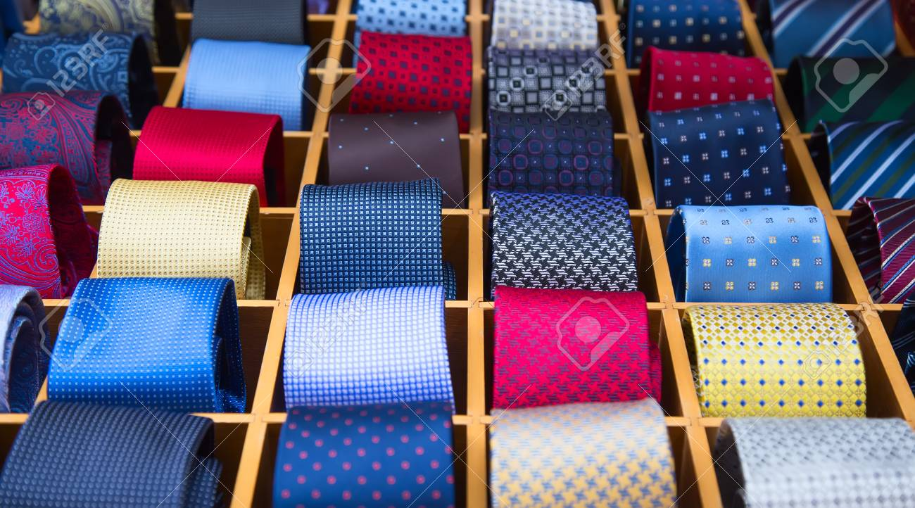 cb44a8e06dfc Colorful Tie Collection In The Men's Shop Stock Photo, Picture And ...