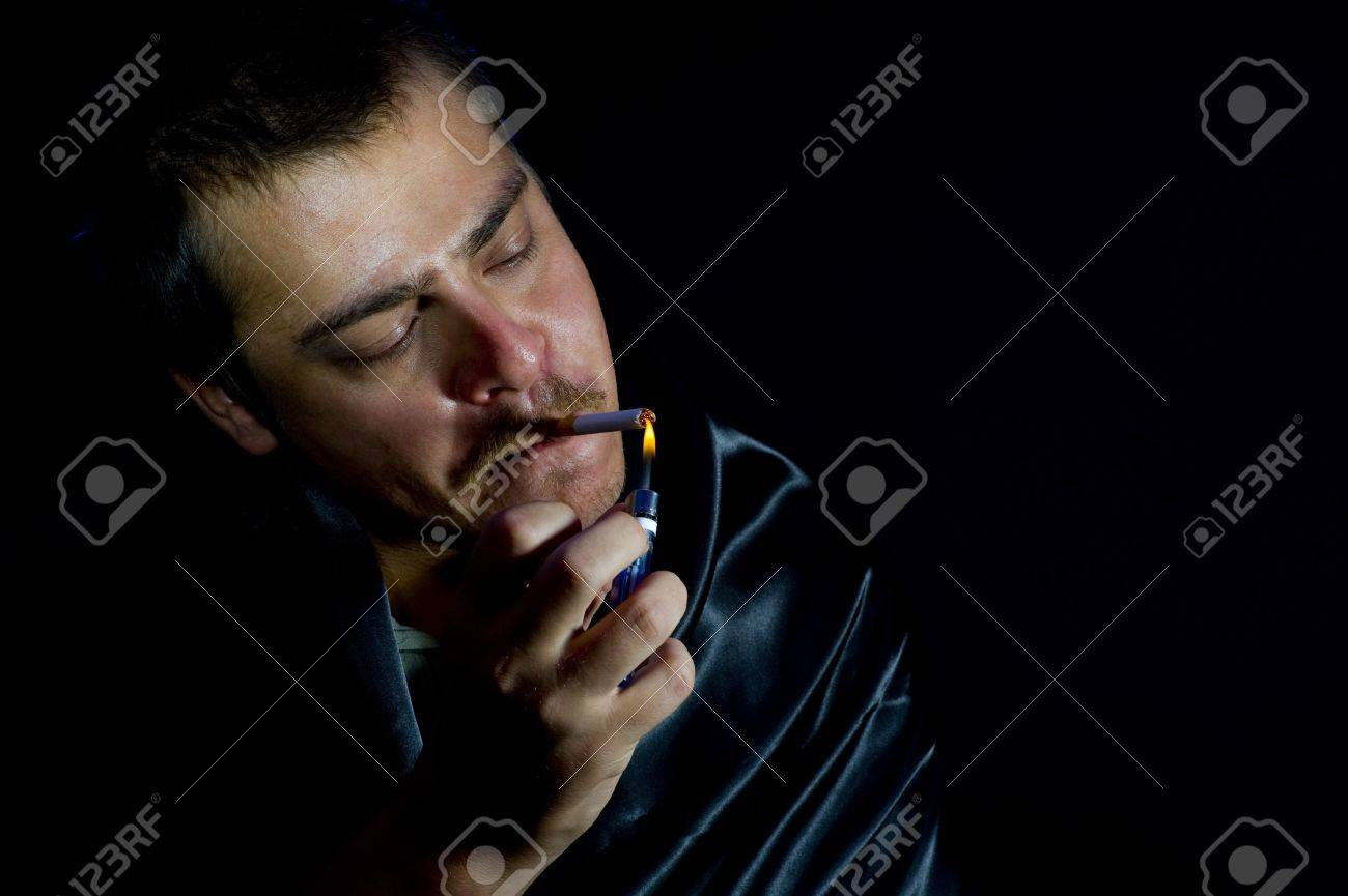 man is lighting a cigarette Stock Photo - 5175464  sc 1 st  123RF Stock Photos & Man Is Lighting A Cigarette Stock Photo Picture And Royalty Free ... azcodes.com