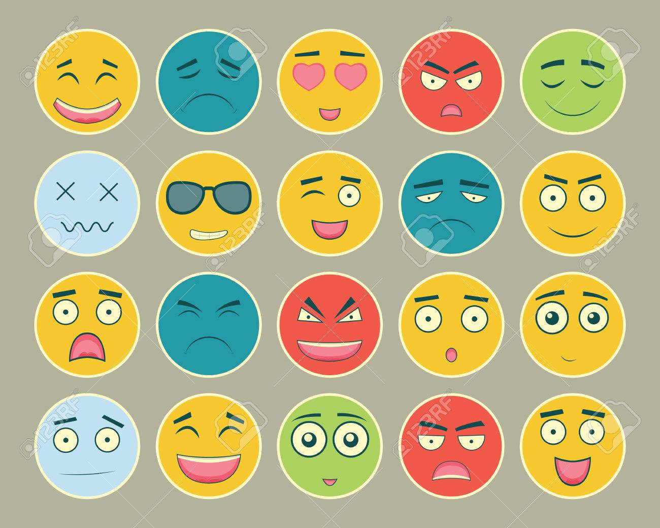 Emoticons flat design set emoticon for web site chat sms emoticons flat design set emoticon for web site chat sms emoticons icons biocorpaavc Image collections