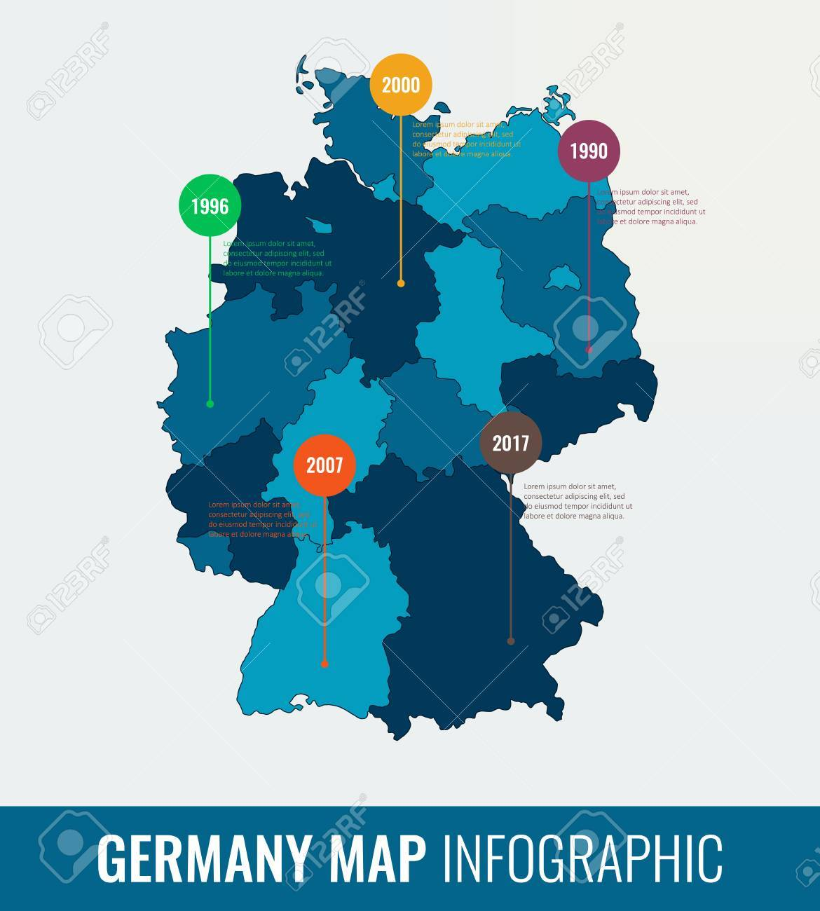 germany map infographic template all regions are selectable vector stock vector 75253893