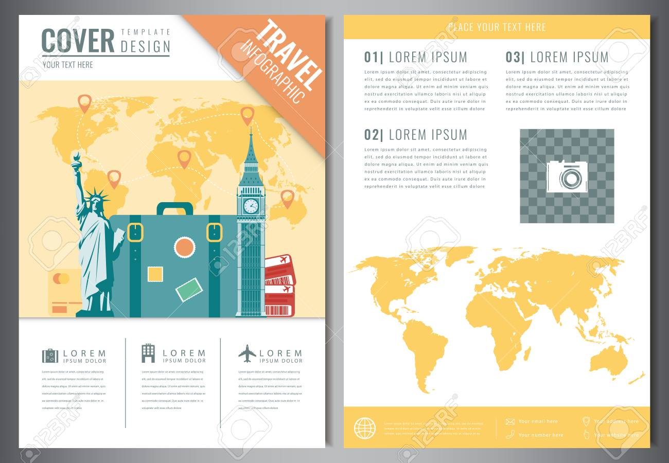 Travel brochure design template travel and tourism concept travel brochure design template travel and tourism concept vector stock vector 78855193 saigontimesfo