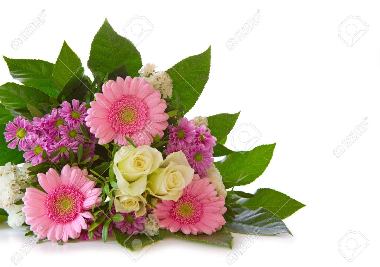 Colorful fresh flowers bouquet isolated on white background colorful fresh flowers bouquet isolated on white background stock photo 39707897 dhlflorist Image collections