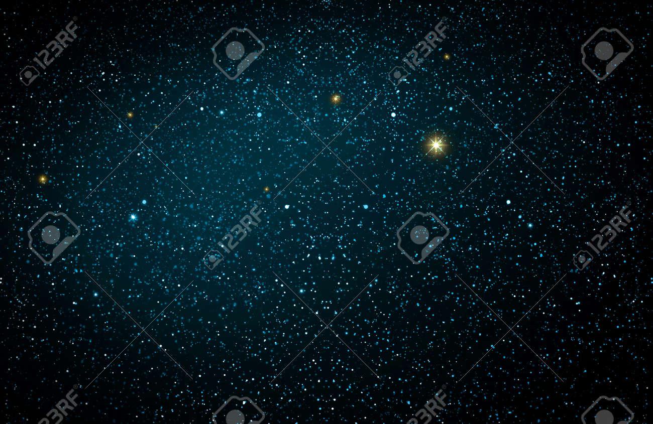 Christmas blue abstract stars sky. Christmas background. - 157220381