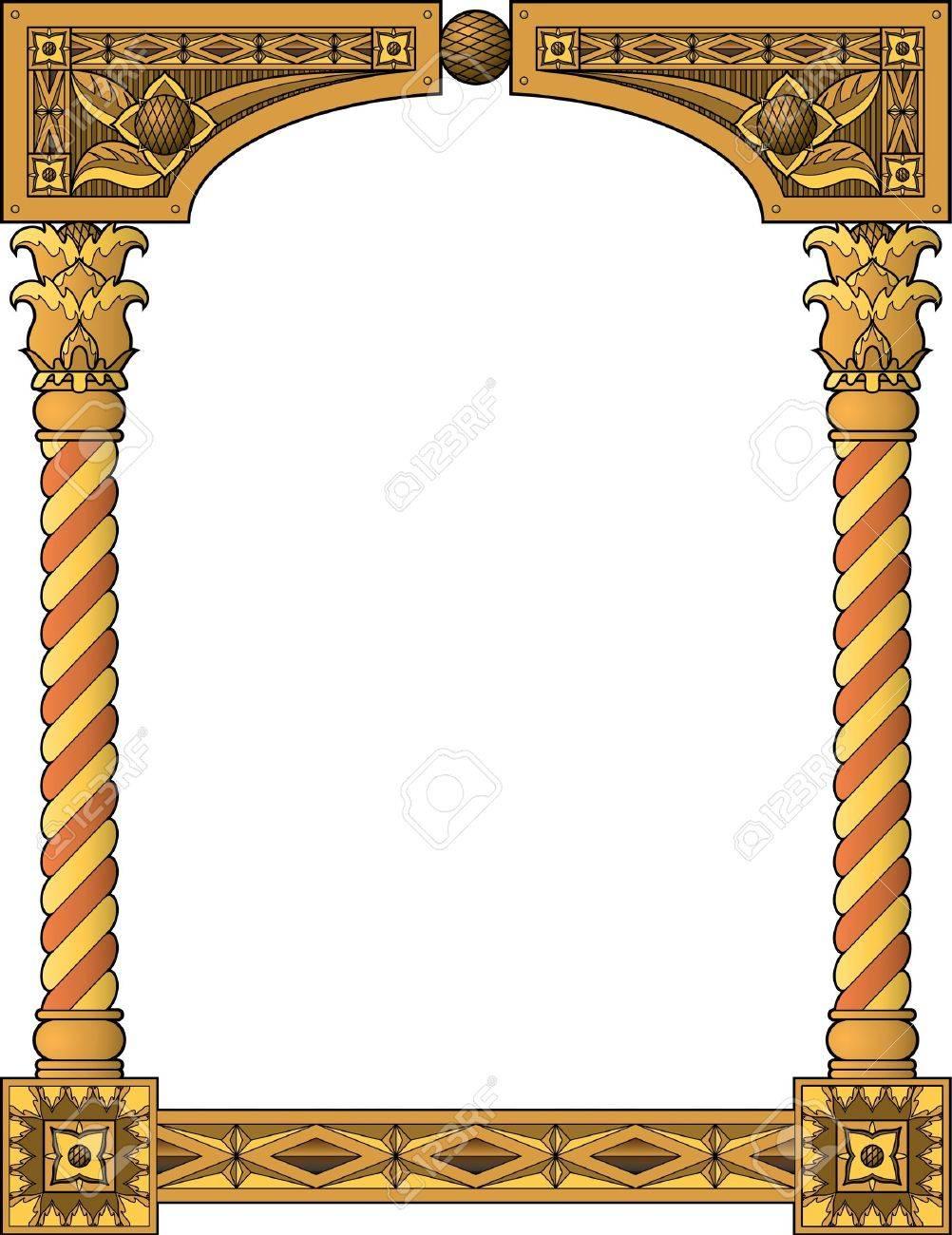 ca46765ffb64 Traditional column frame Stock Vector - 9920543