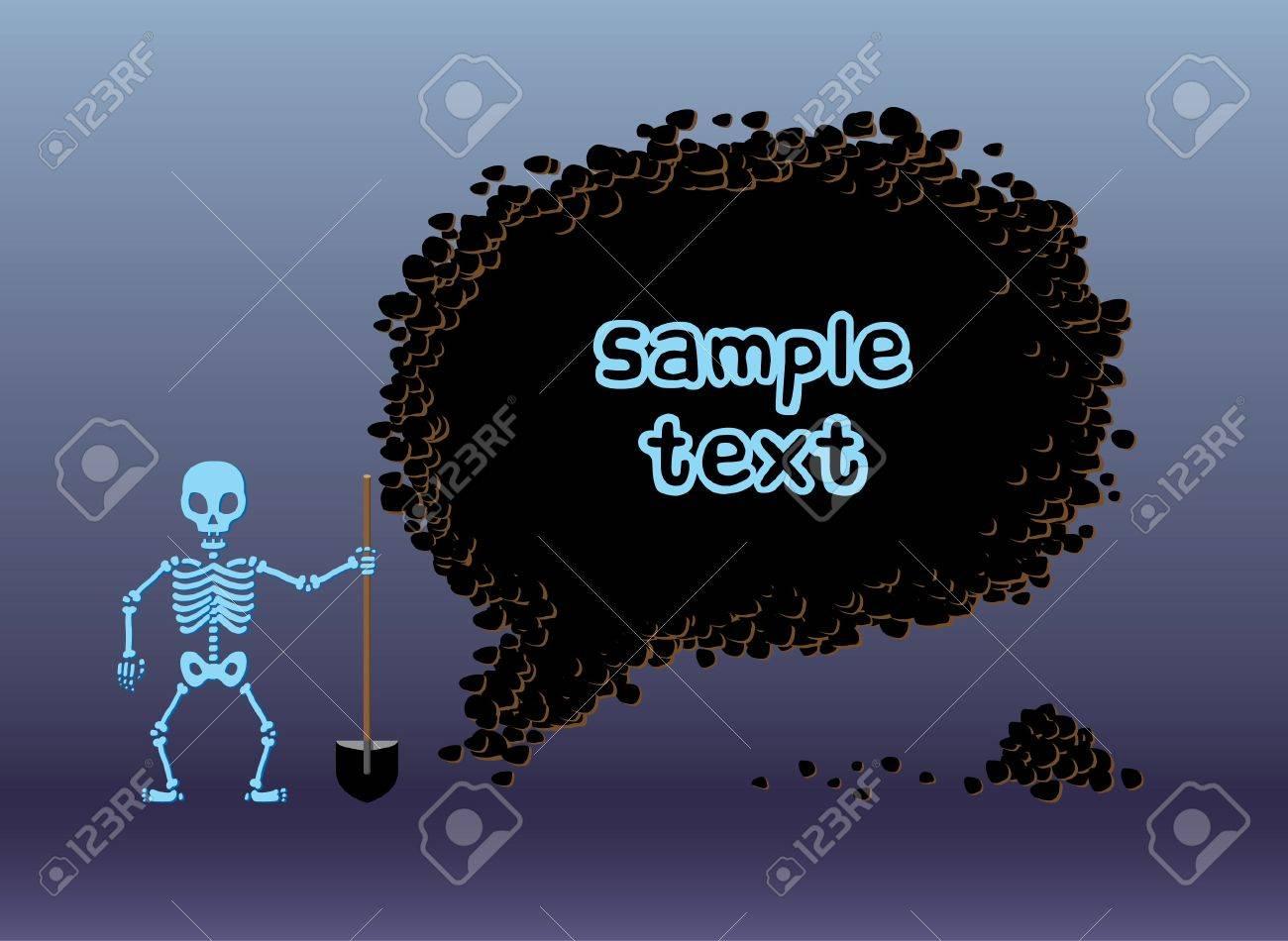 Skeleton digging frame Stock Vector - 10184949