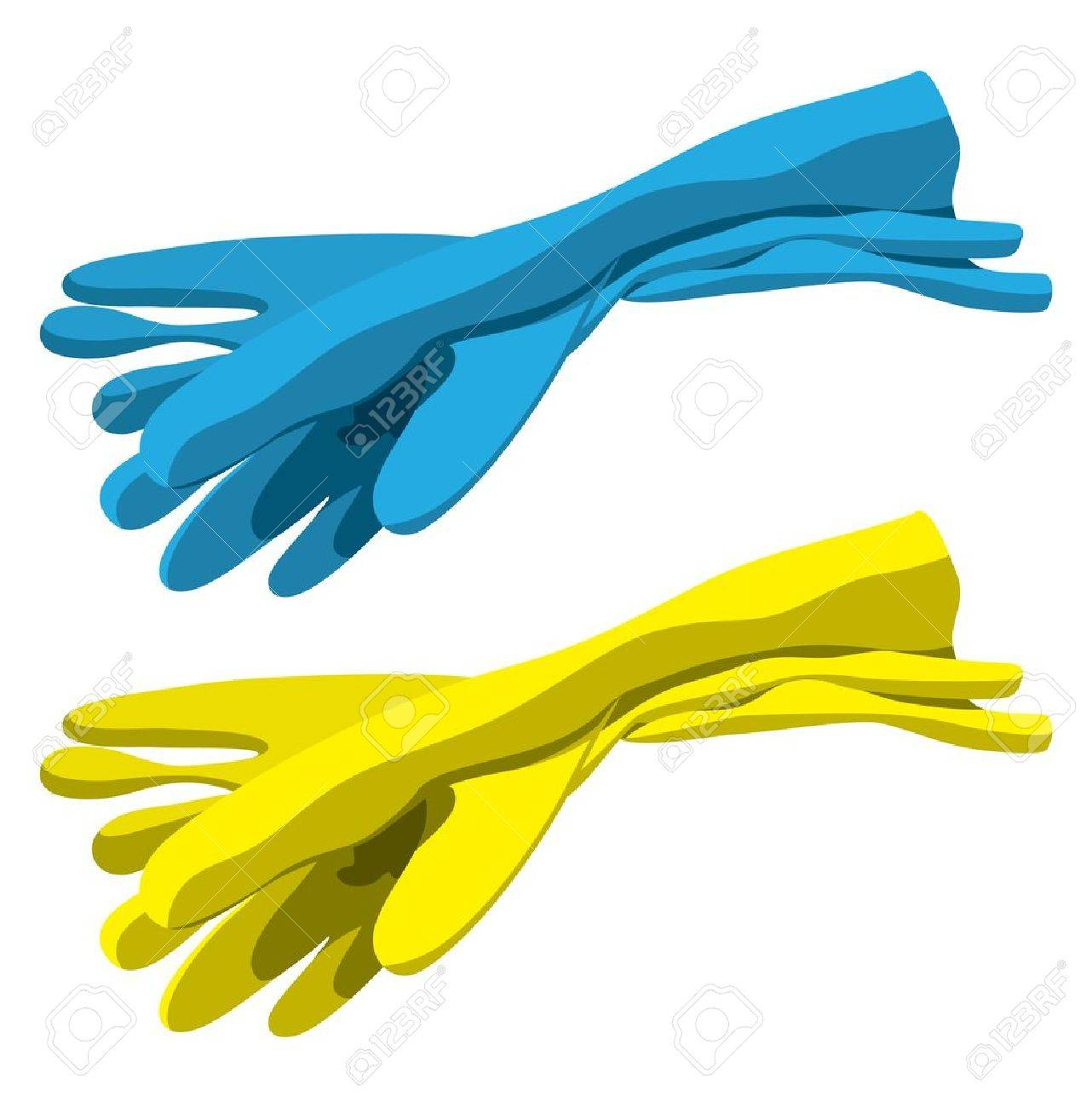 Set of rubber gloves for cleaning Stock Vector - 10263441