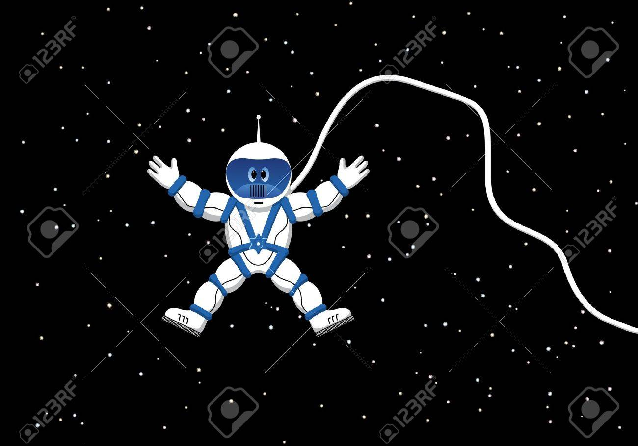 Cosmonaut in outer space Stock Vector - 10263354