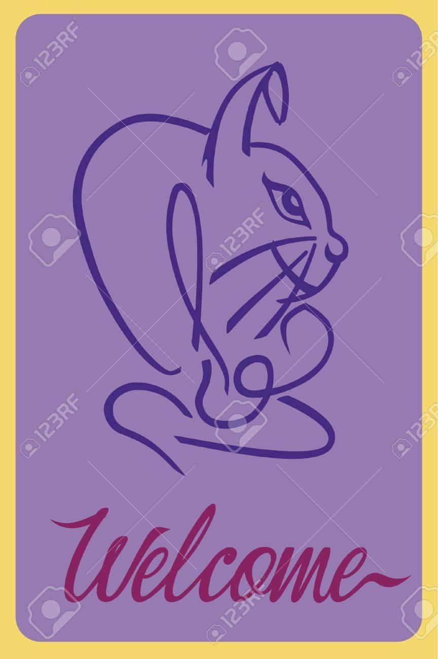Welcome Rabbit Stock Vector - 10295906