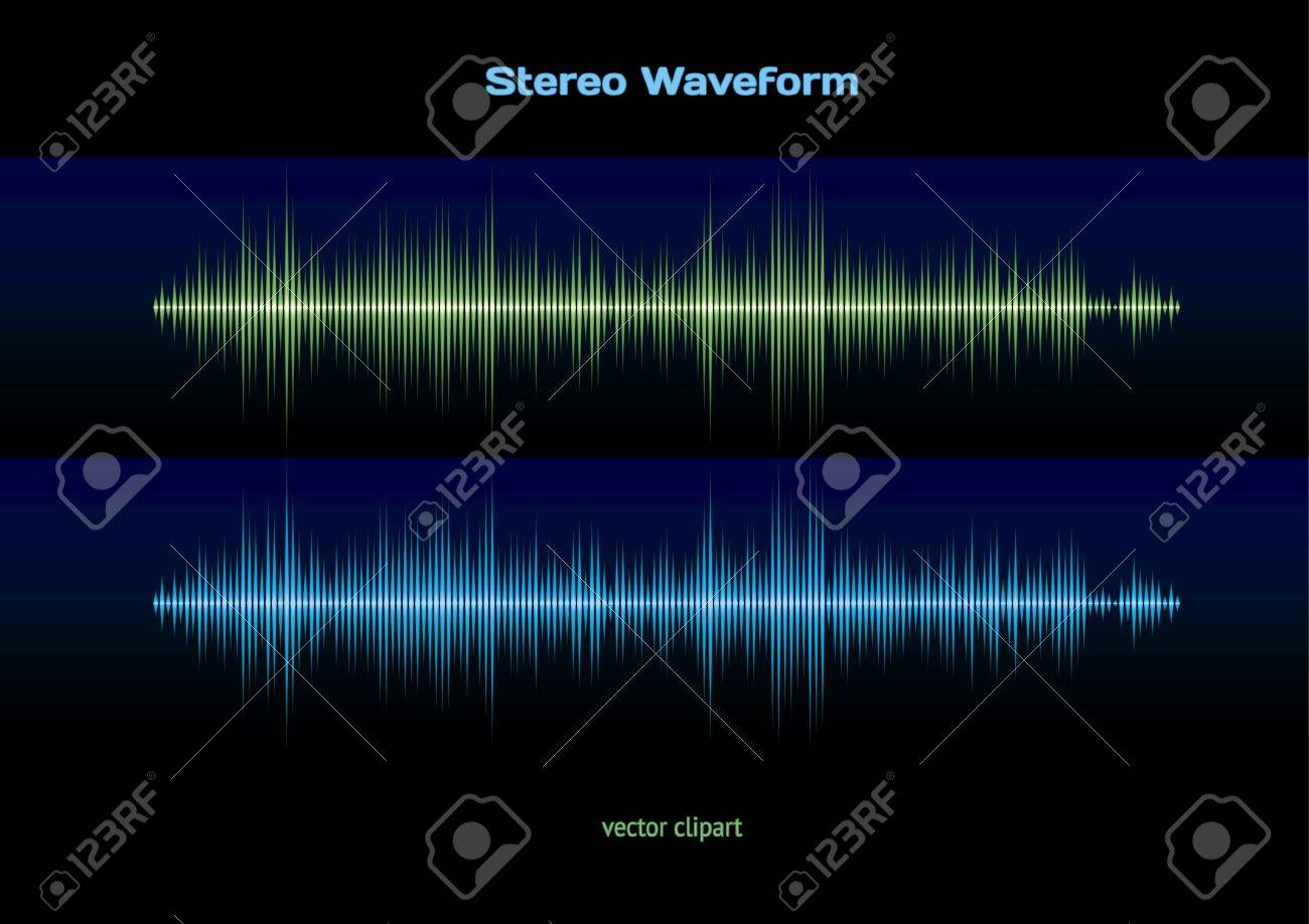Stereo waveform Stock Vector - 10518677
