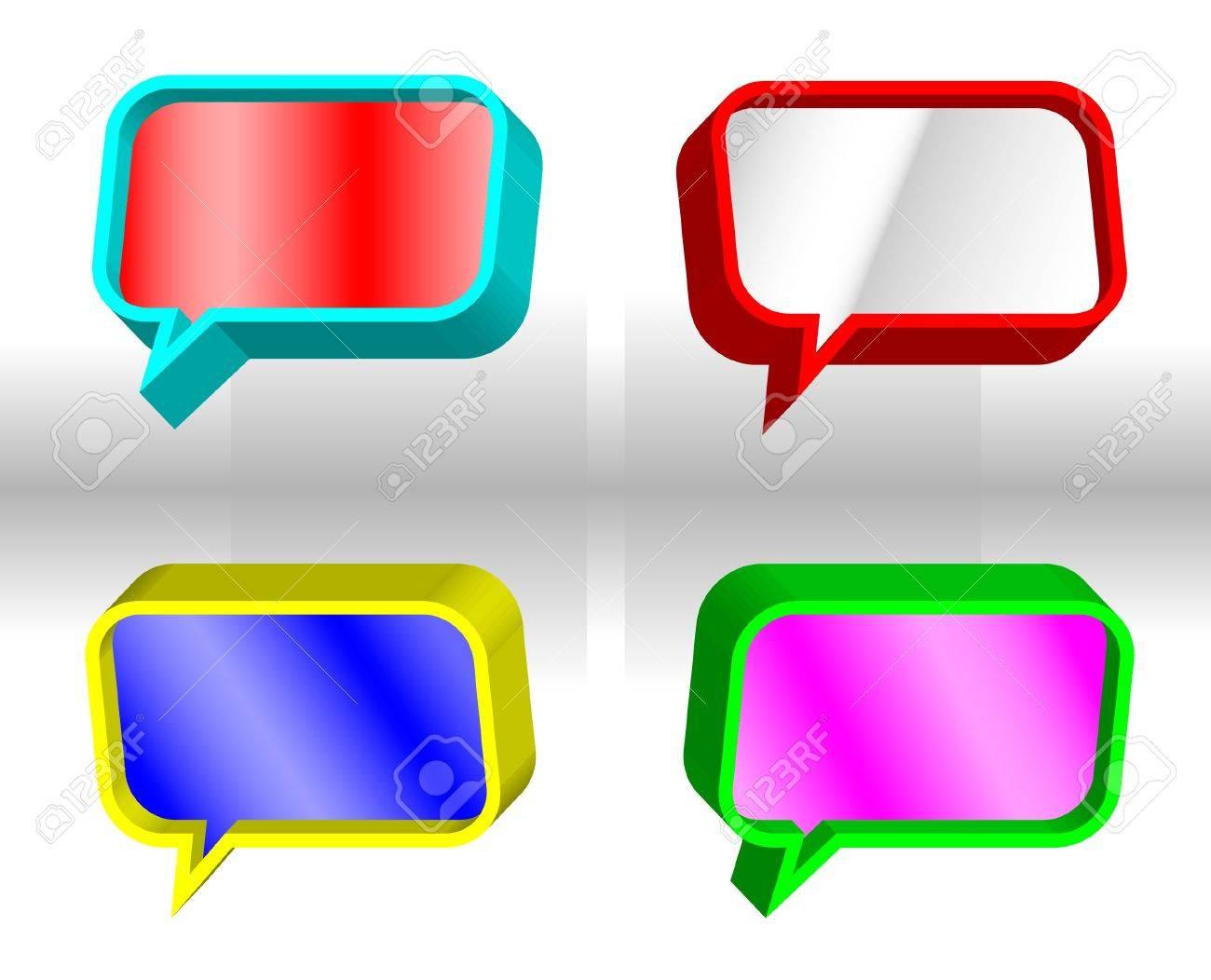 3D speech bubbles Stock Vector - 10525148