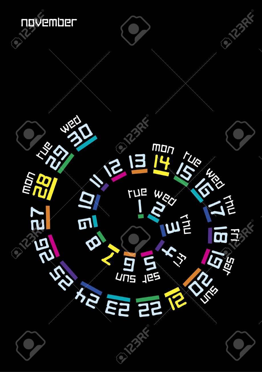 Spiral calendar, November 2011 Stock Vector - 10673414