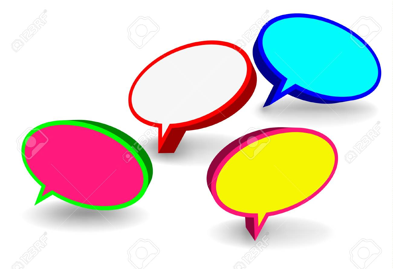 3d round speech bubbles Stock Vector - 10739171
