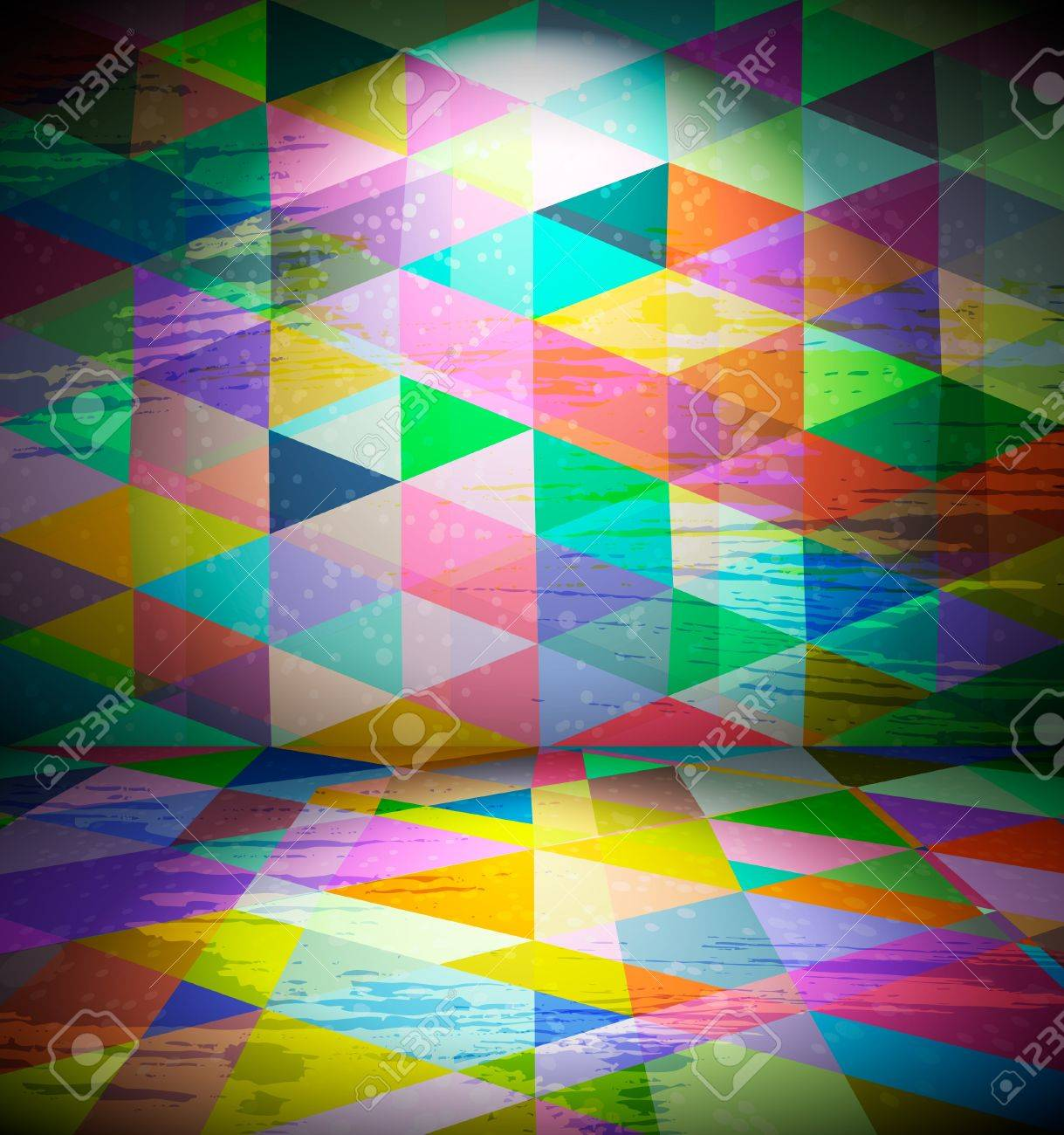 Club room with triangular wallpaper Stock Vector - 10979868