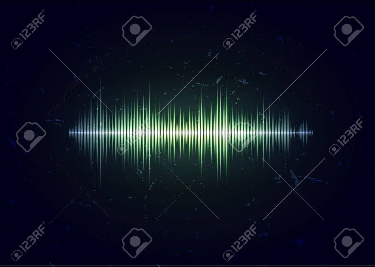 Aged card with sound waveform Stock Vector - 11132889