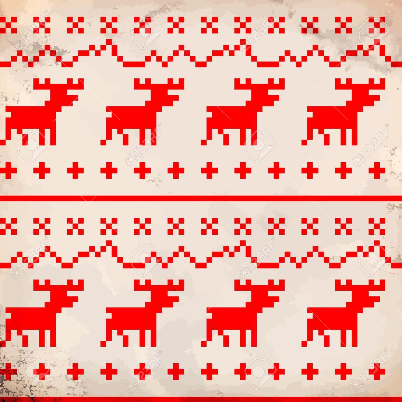 Traditional reindeer ornament Stock Vector - 11236845