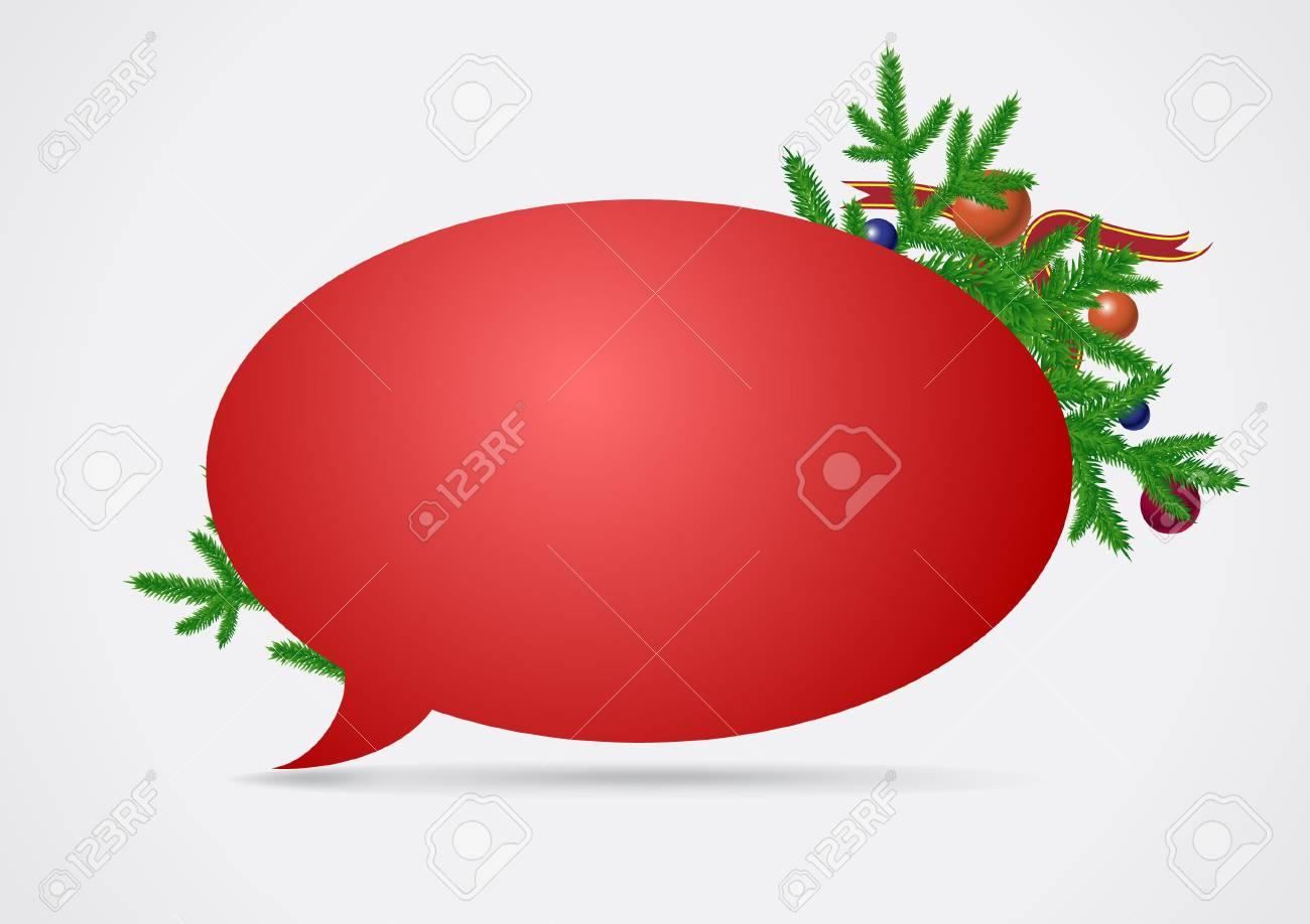 Christmas speech bubble Stock Vector - 11362295