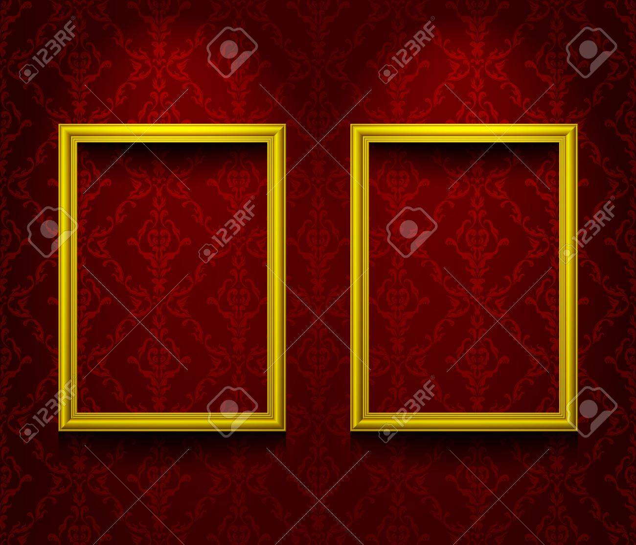 Two frames on the wall Stock Vector - 11478902