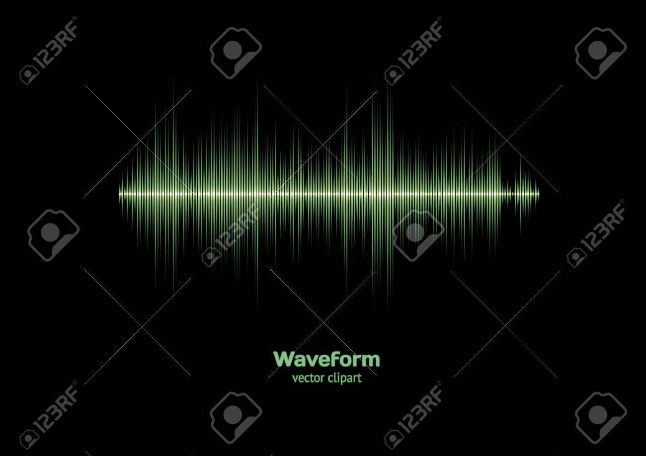 Sharp green waveform Stock Vector - 11839868