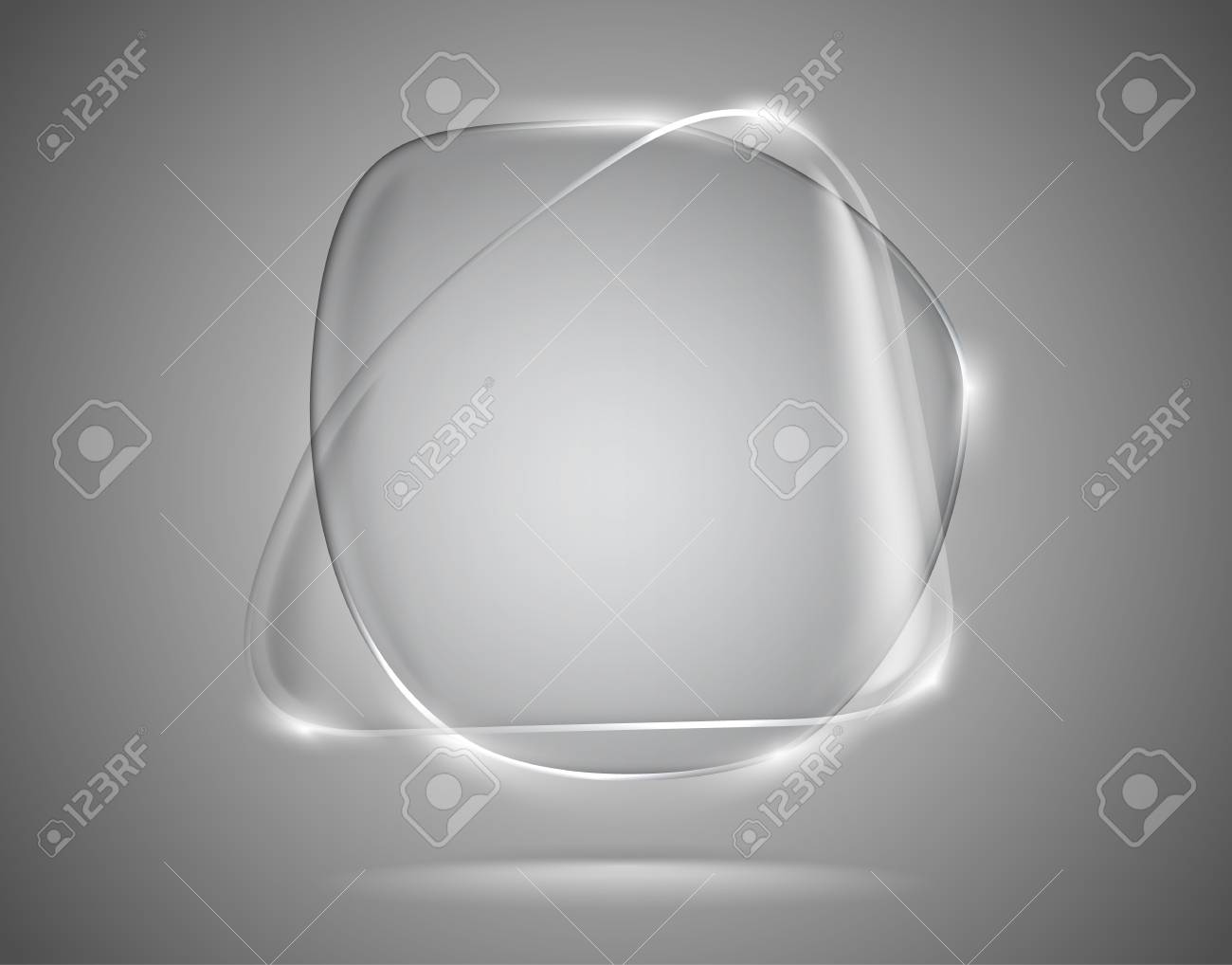 Transparent glass speech bubbles with lightened edges Stock Vector - 14559773