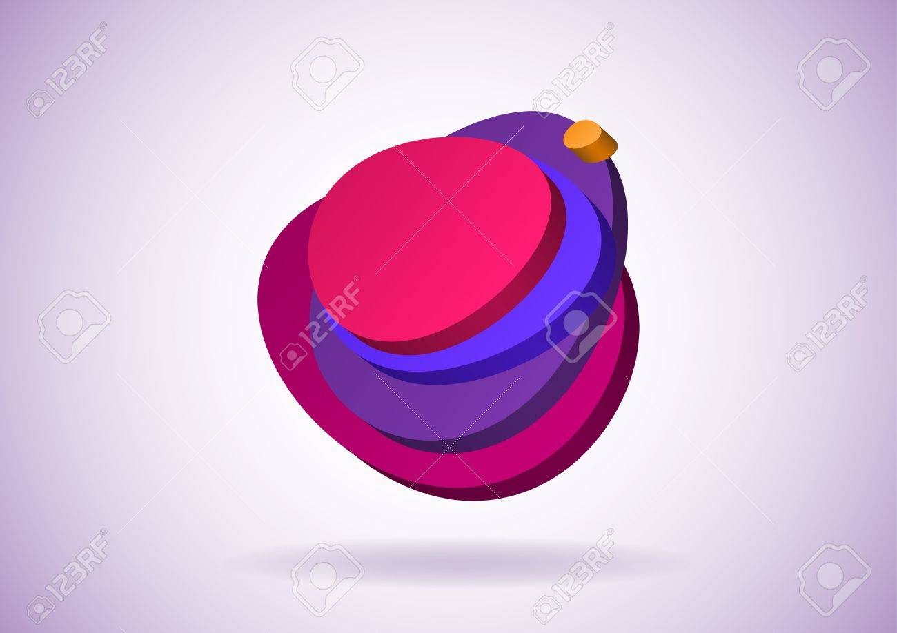 Egg shaped 3D speech bubble with layers Stock Vector - 14559765
